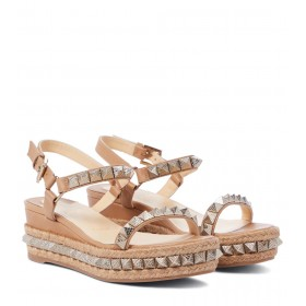 Christian Louboutin Womens Shoes Pyraclou 60 leather espadrille sandals At Target P00567632