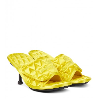 Balenciaga Womens Shoes Home quilted satin sandals The Most Popular P00556258