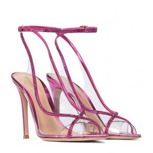 Gianvito Rossi Women's Shoes Exclusive to Mytheresa – Crystelle embellished PVC sandals P00525613