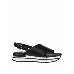 Hogan Shoes H222 strap leather sandals online shopping HXW2570CP10N7XB999